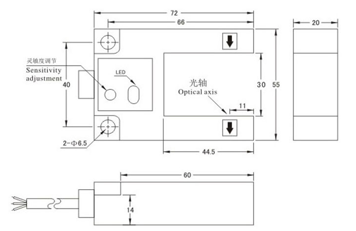 E3S-GS30E4_克特_U型槽开关_红外线光电感应_电梯平层传感器